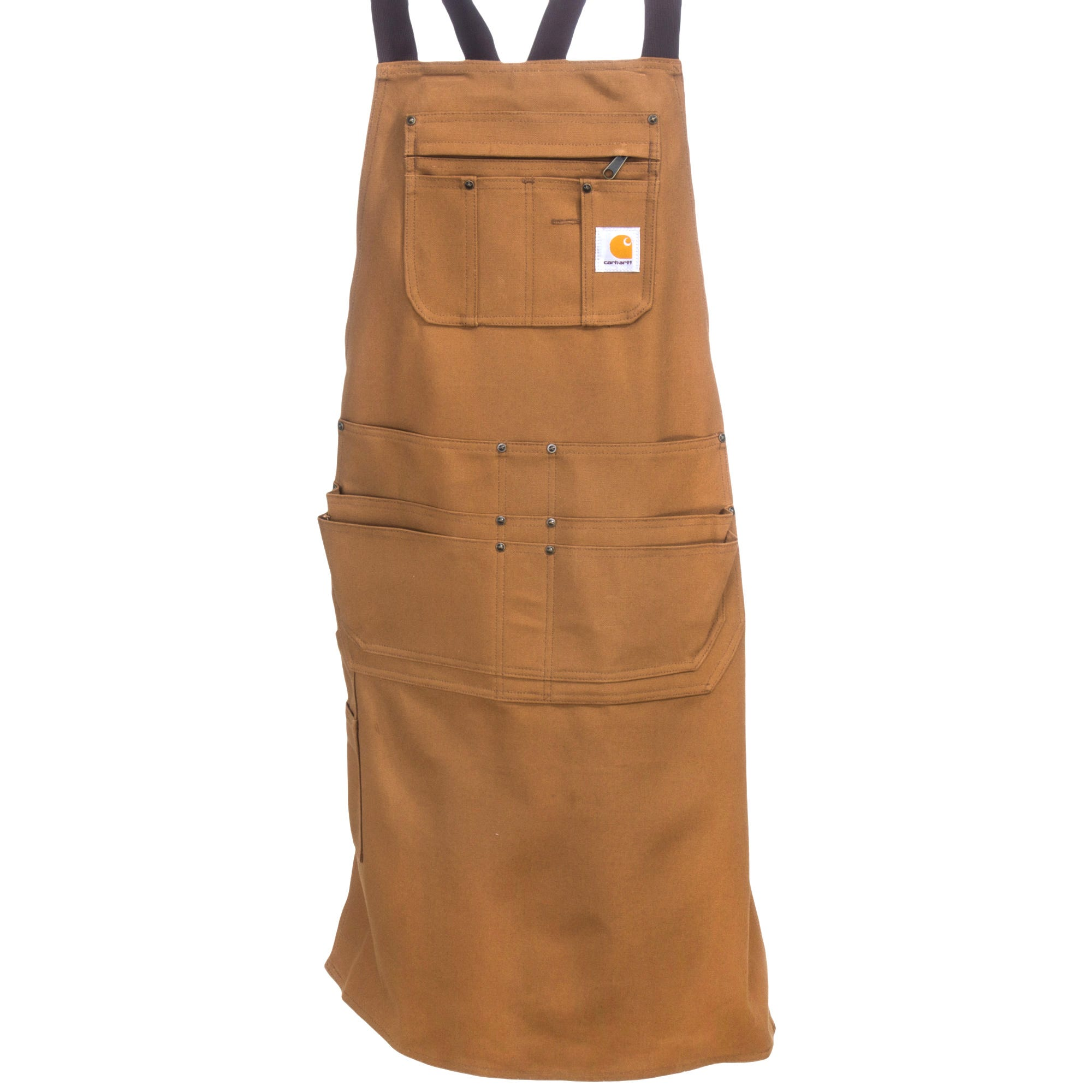 7d32911083d Carhartt Aprons: Men's 102483 211 Carhartt Brown Cotton Duck Apron ...