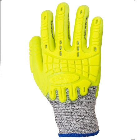 Carhartt Gloves: Men's Yellow A611 HIVSYL Hi Vis Cut Resistant Work Gloves Sale $24.00 Item#A611HIVSYL :