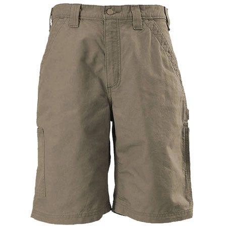 Carhartt Clothing Men's Light Brown B147 LBR Cotton Canvas Work Shorts