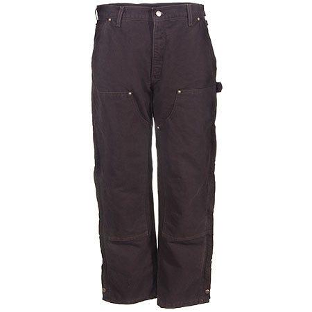 Carhartt Pants: Men's B194 DKB Dark Brown Duck Insulated Dungaree Work Pants
