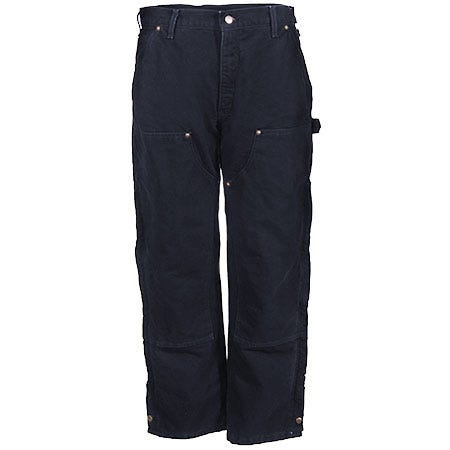 Carhartt Pants: Men's Black B194 BLK Quilt Lined Cotton Duck Overall Pants