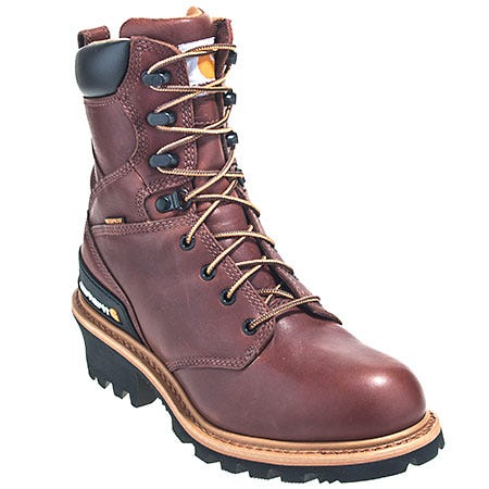 Carhartt Boots Men's CML8230 Steel Toe Waterproof EH Logger Boots