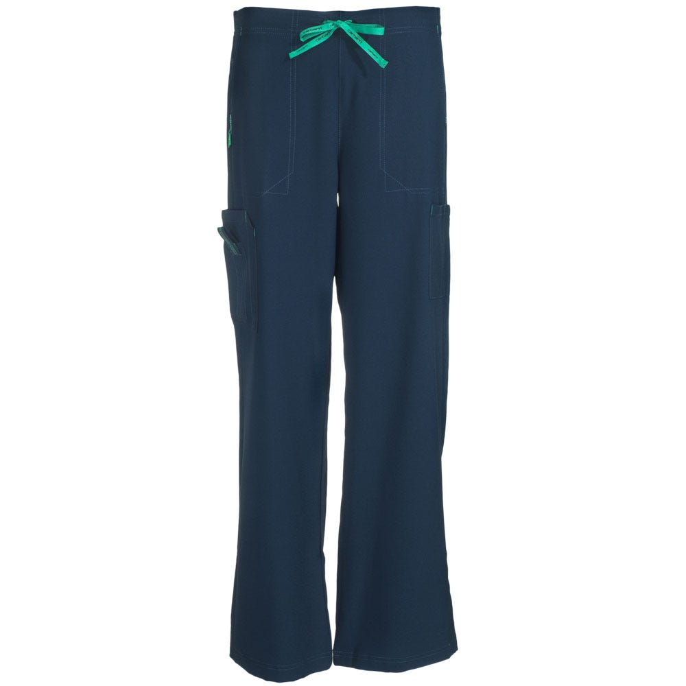 Carhartt Women's C52110 NVY Navy Blue Boot Cut Scrub Pants