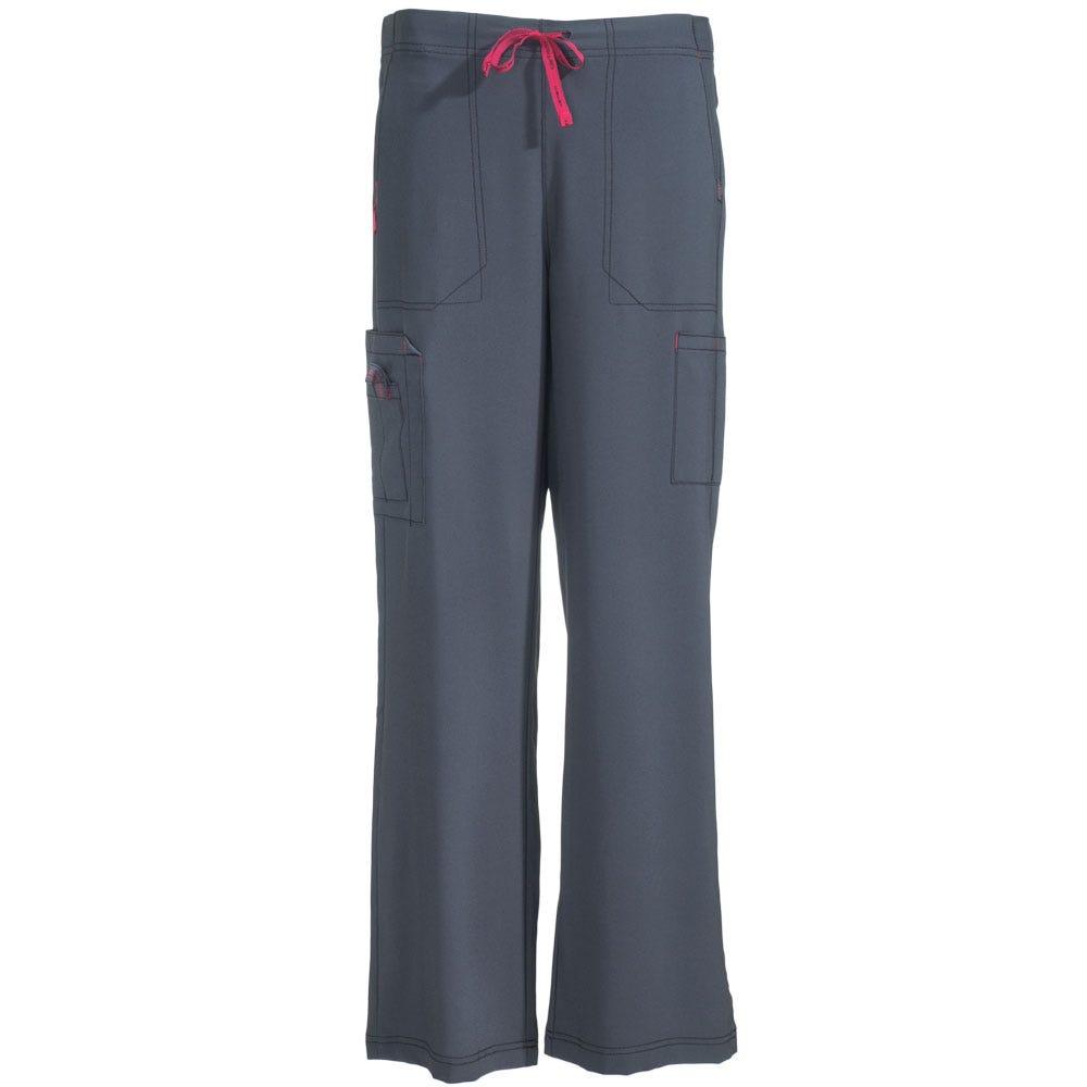 Carhartt Women's C52110 PEW Grey Utility Boot Cut Scrub Pants