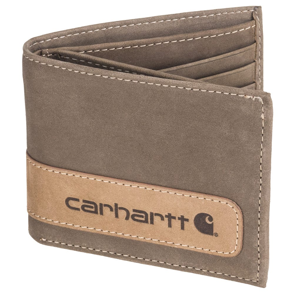 Carhartt 61 2204 20 Brown Two-Tone Heavyweight Leather Billfold With Wing Wallet