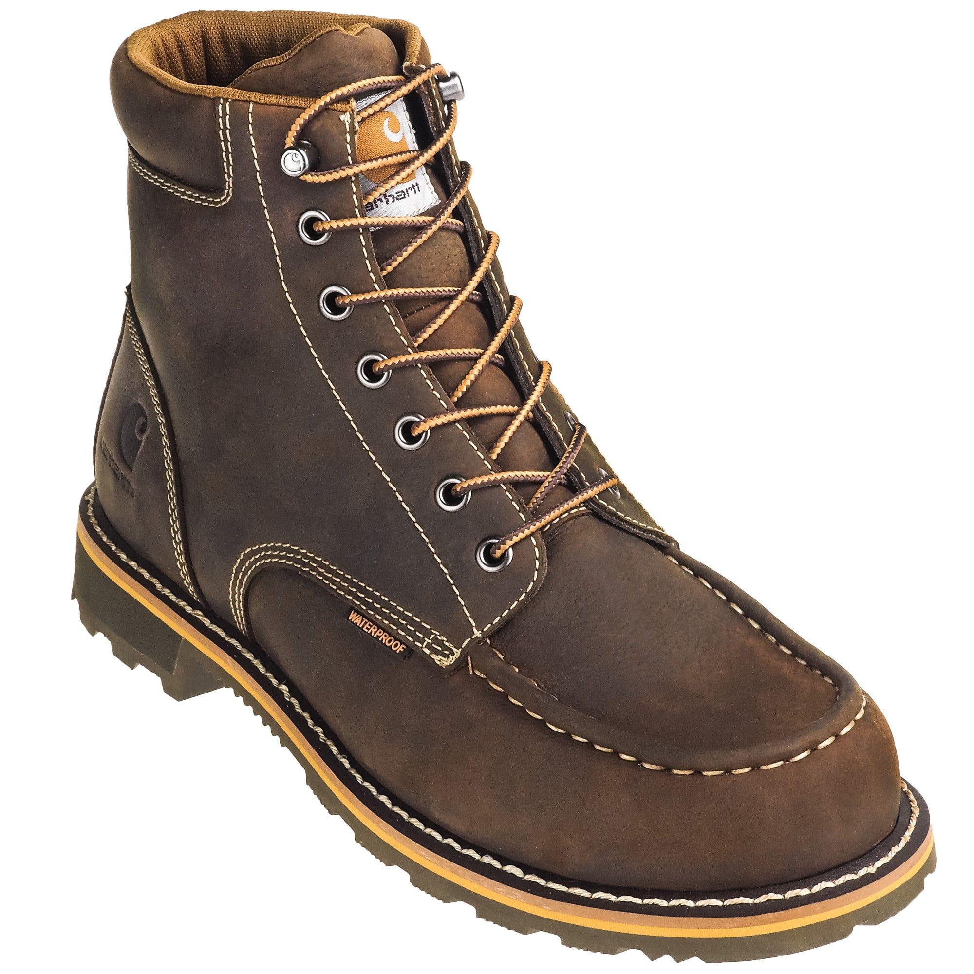 6122228ff1f Carhartt Boots: Waterproof Steel Toe CMW6297 Men's Brown 6-Inch EH ...