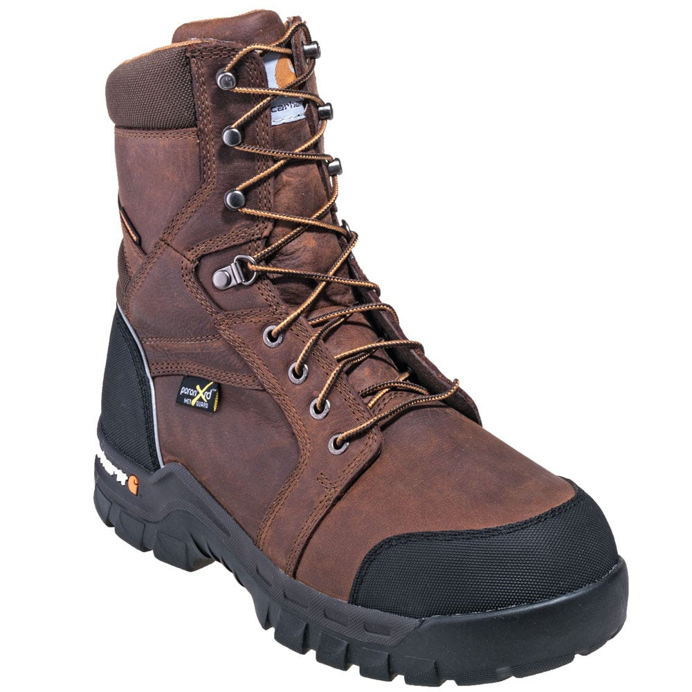 7bc13b564fc Carhartt Boots  Men s CMF8720 Brown Met Guard Waterproof 8-Inch Work ...