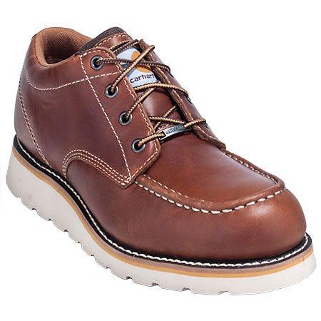 Carhartt Shoes: Men's Tan CMO3170 Steel Toe EH Moc Toe Wedge Shoes Sale $123.00 Item#CMO3170 :