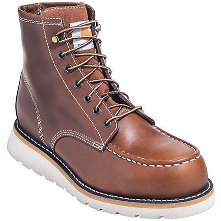 Carhartt Boots Men's Tan CMU6275 Steel Toe EH Wedge Work Boots