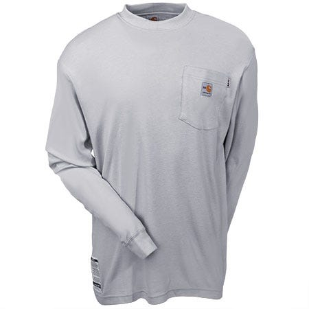 Carhartt Shirts: Men's Grey FRK294 LGY Fire-Resistant Long Sleeve Work Shirt Sale $69.00 Item#FRK294LGY :