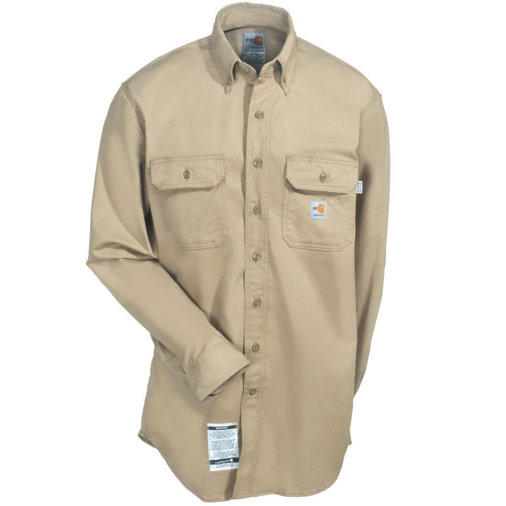 cc7fb677217 Carhartt Shirts  Men s FR Khaki FRS160 KHI Twill Flame Resistant ...