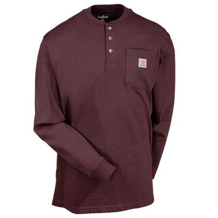 912017a2bd3 Carhartt Port K128 PRT Long Sleeve Henley Shirt