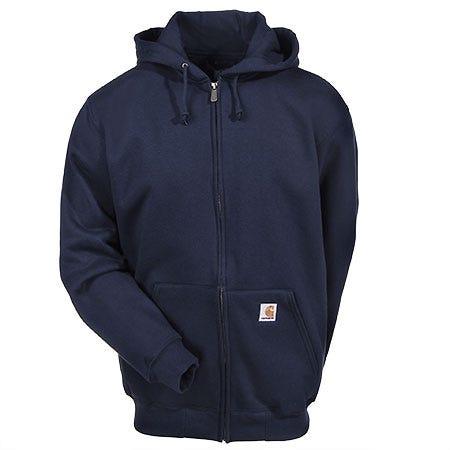 Carhartt Sweatshirts: Men's Navy Heavyweight Zip Hooded Sweatshirt K185 472 Sale $60.00 Item#K185-472 :
