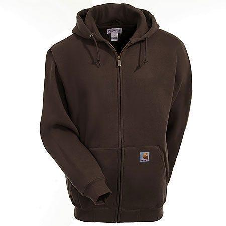 Carhartt Sweatshirts: Men's Dark Brown K185 DKB Heavyweight Zip Sweatshirt Sale $60.00 Item#K185DKB :