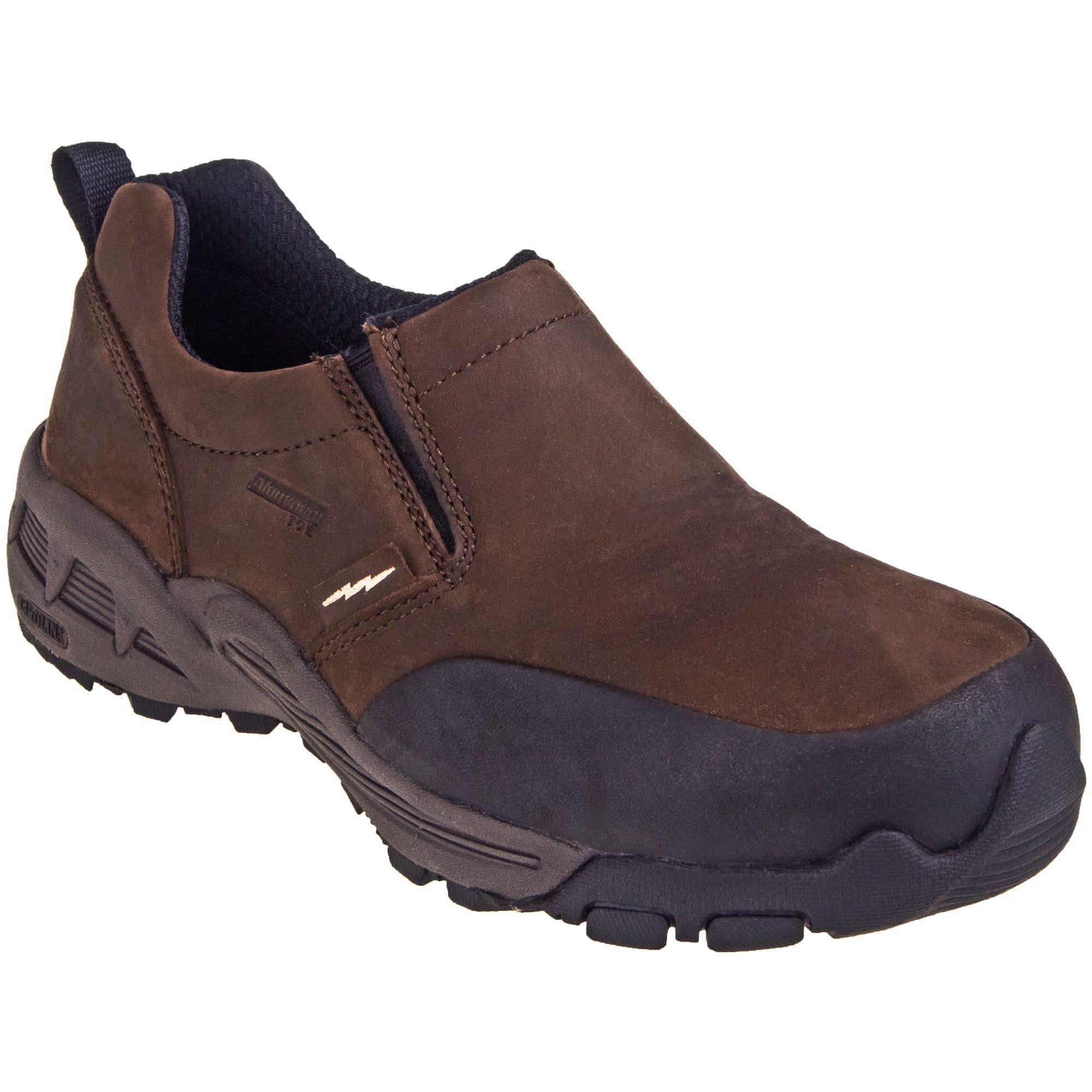Carolina CA6550 Brown Oil-Resistant ESD Leather Aluminum Toe Slip-On Shoes