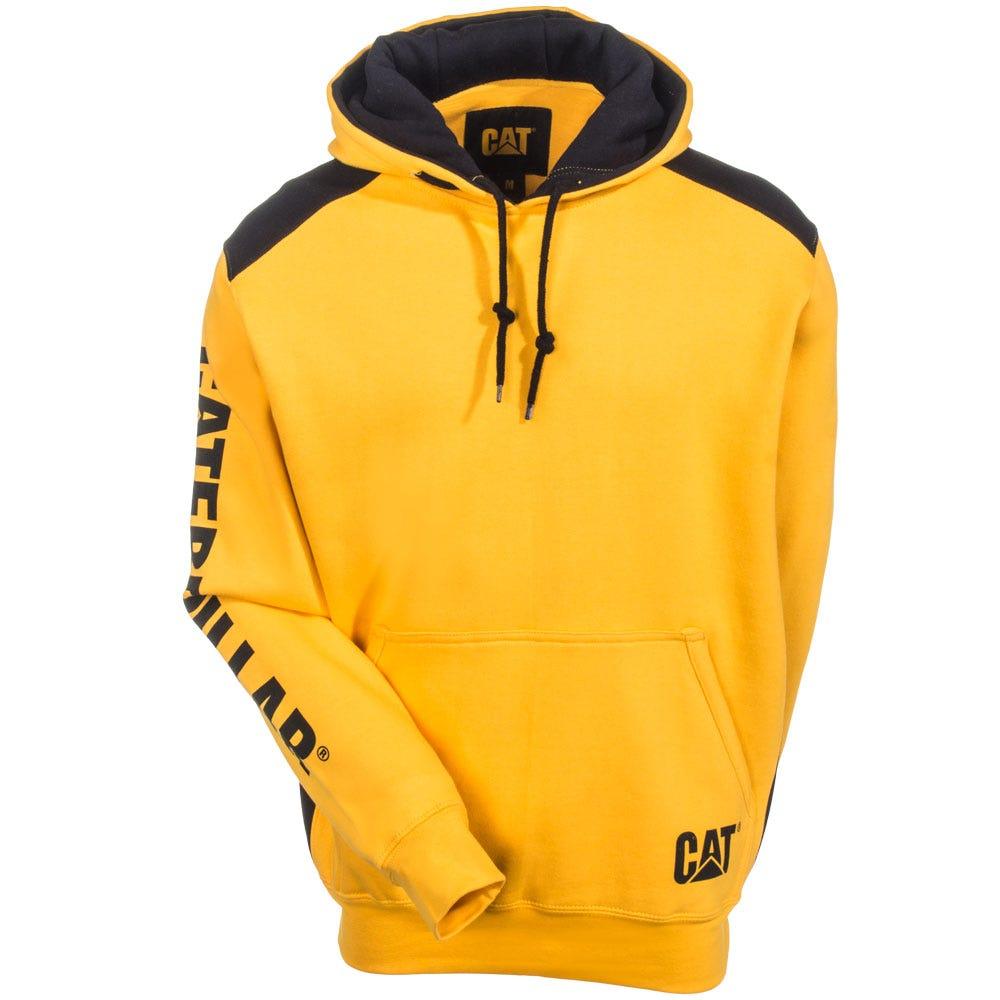 cat apparel s 1910802 555 yellow logo panel hooded