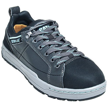 Caterpillar Shoes: Women's 90266 EH Brode Grey Steel Toe Oxford Shoes