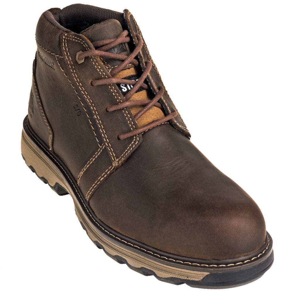 Caterpillar 90715 Steel Toe Parker ESD Dark Beige Chukka Work Shoes