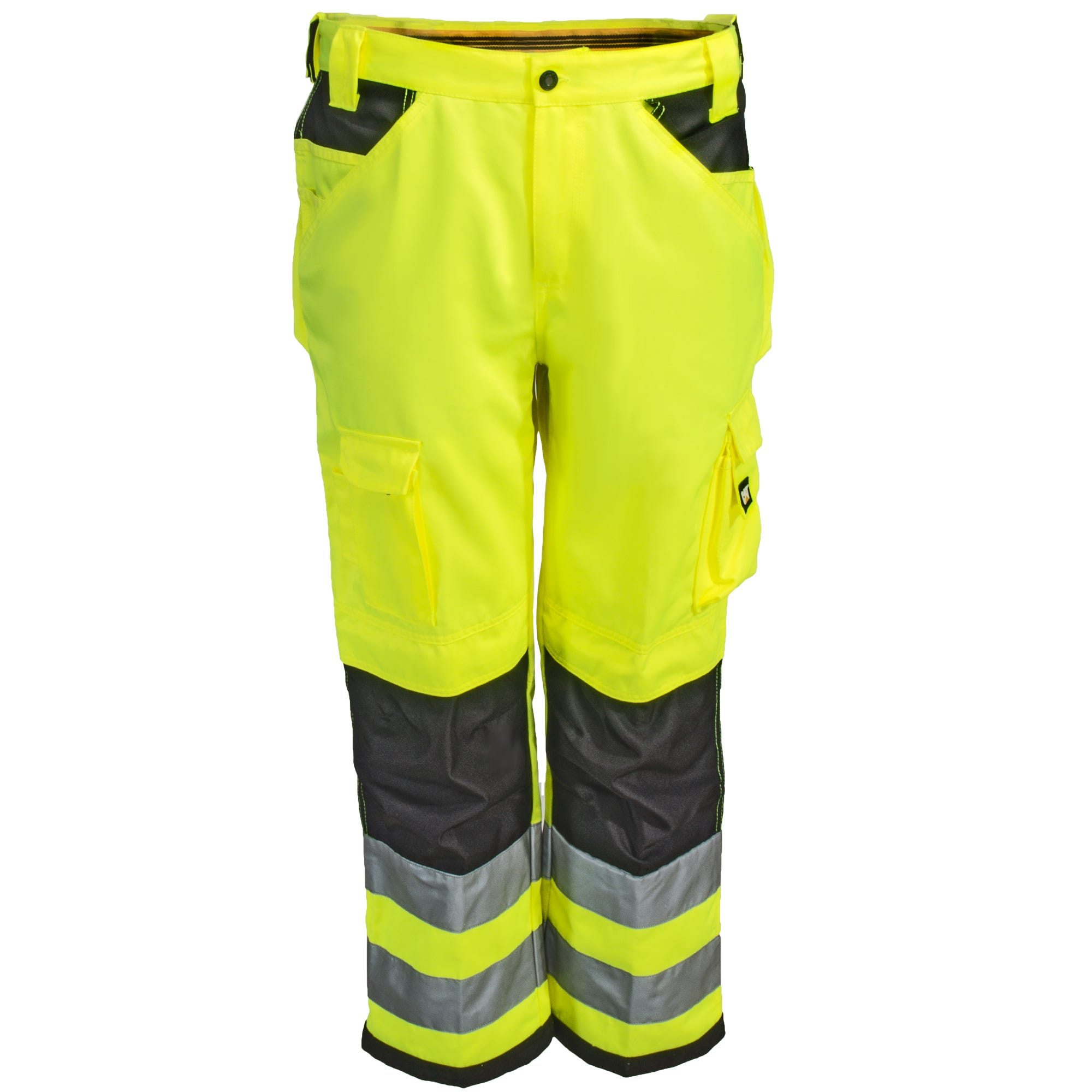 fe05cc681cbac CAT Apparel Pants: Men's C172EHV 83F Hi Vis Trademark Trouser Pants ...