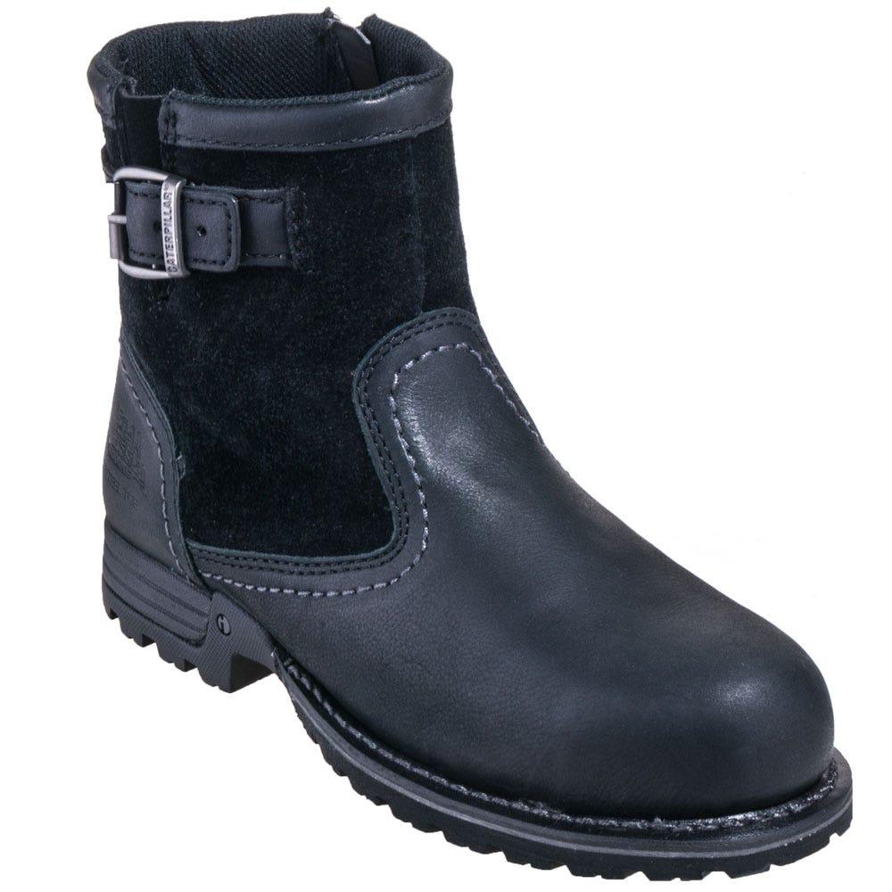 Caterpillar Women's 90562 Steel Toe Black EH Jace Slip-Resistant Boots