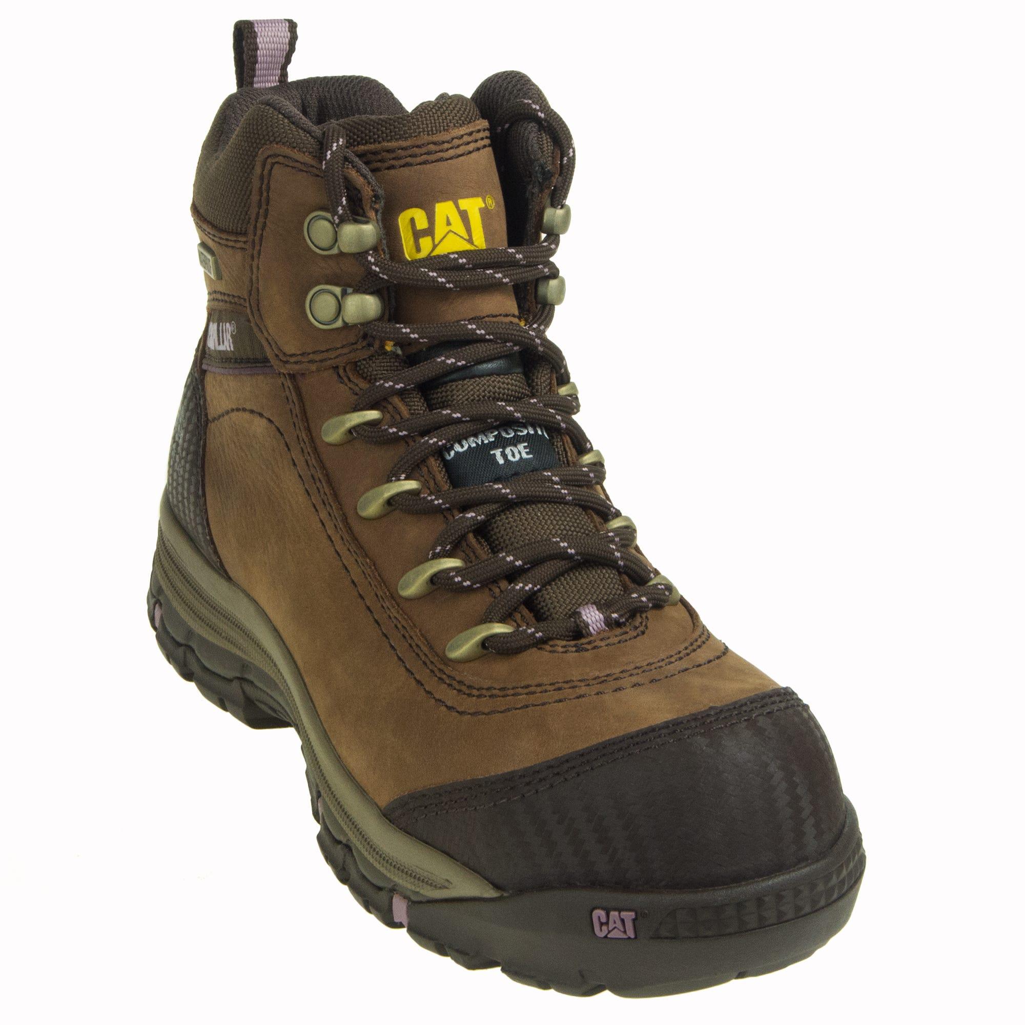 Caterpillar Women's Ally 90760 Brown Composite Toe Work Boots