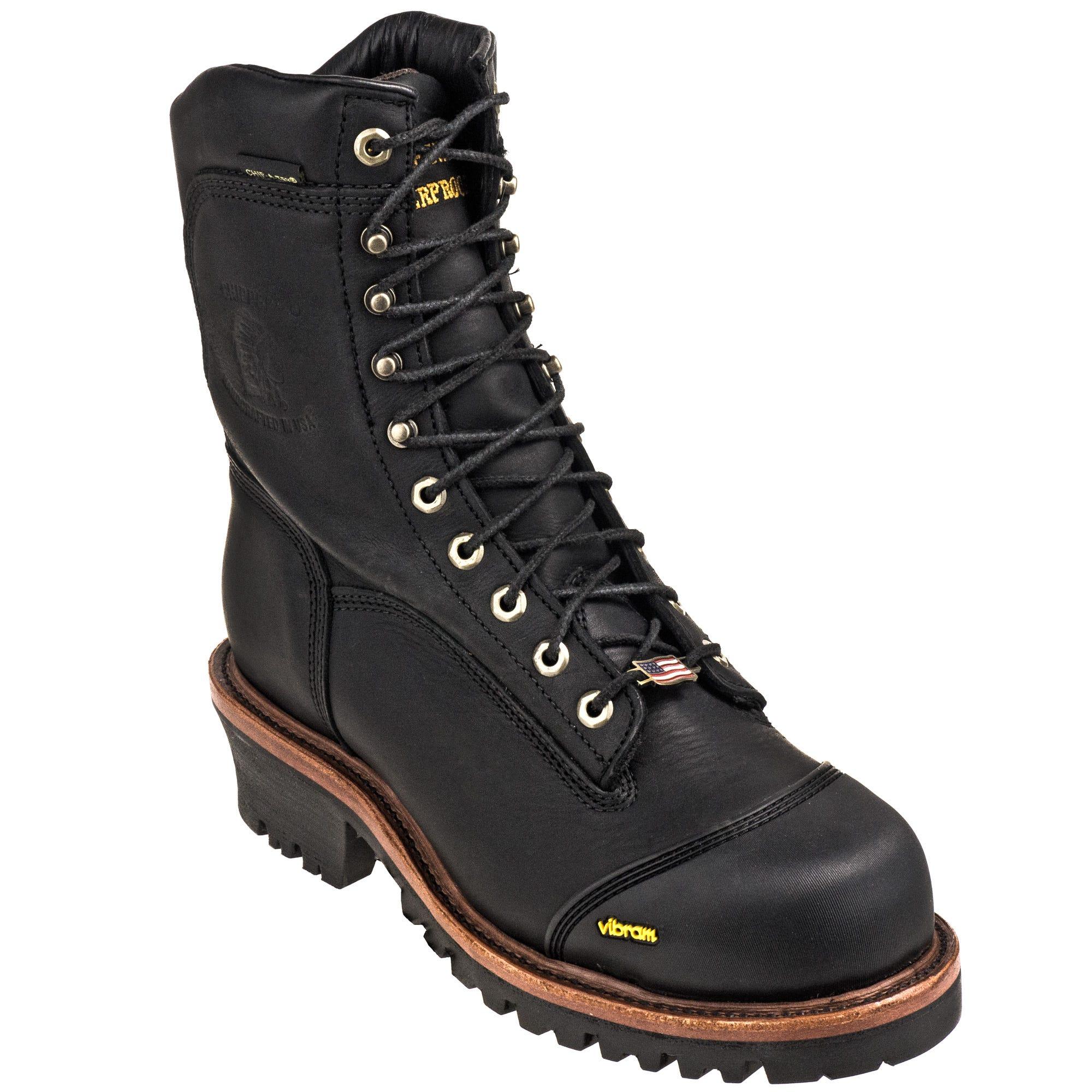 87328d31fdd Chippewa Boots: Men's 25380 Black Waterproof Composite Toe Super ...