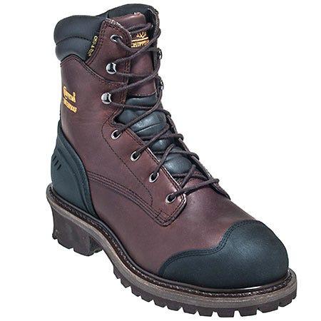 Chippewa Boots Men S Eh 27422 Black Motorcycle Steel Toe
