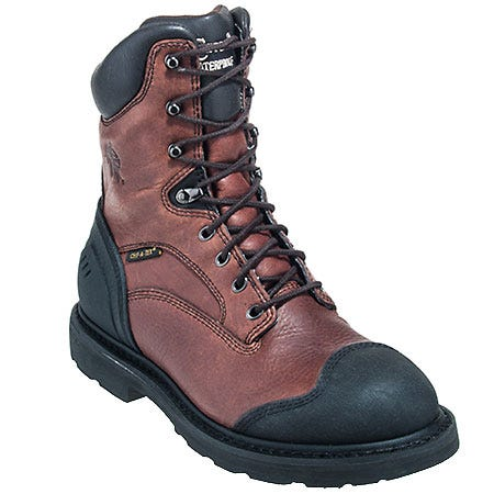 Chippewa Boots: Men's 55214 Waterproof Brown Leather Boots