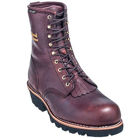 Chippewa Boots: Men's Waterproof 73061 Brown Work Boots