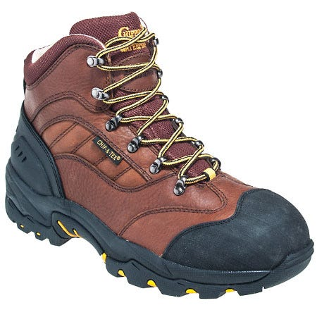 Chippewa Boots: Men's Brown 55204 Waterproof 6 Inch Hiking Work Boots