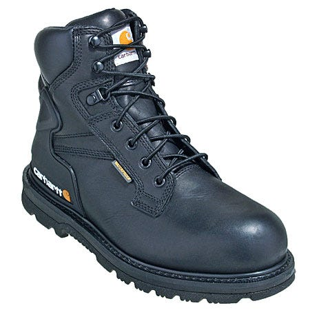 Carhartt Boots: Men s 6  Black Non-Safety Toe Work Boot CMW6121-9.5W