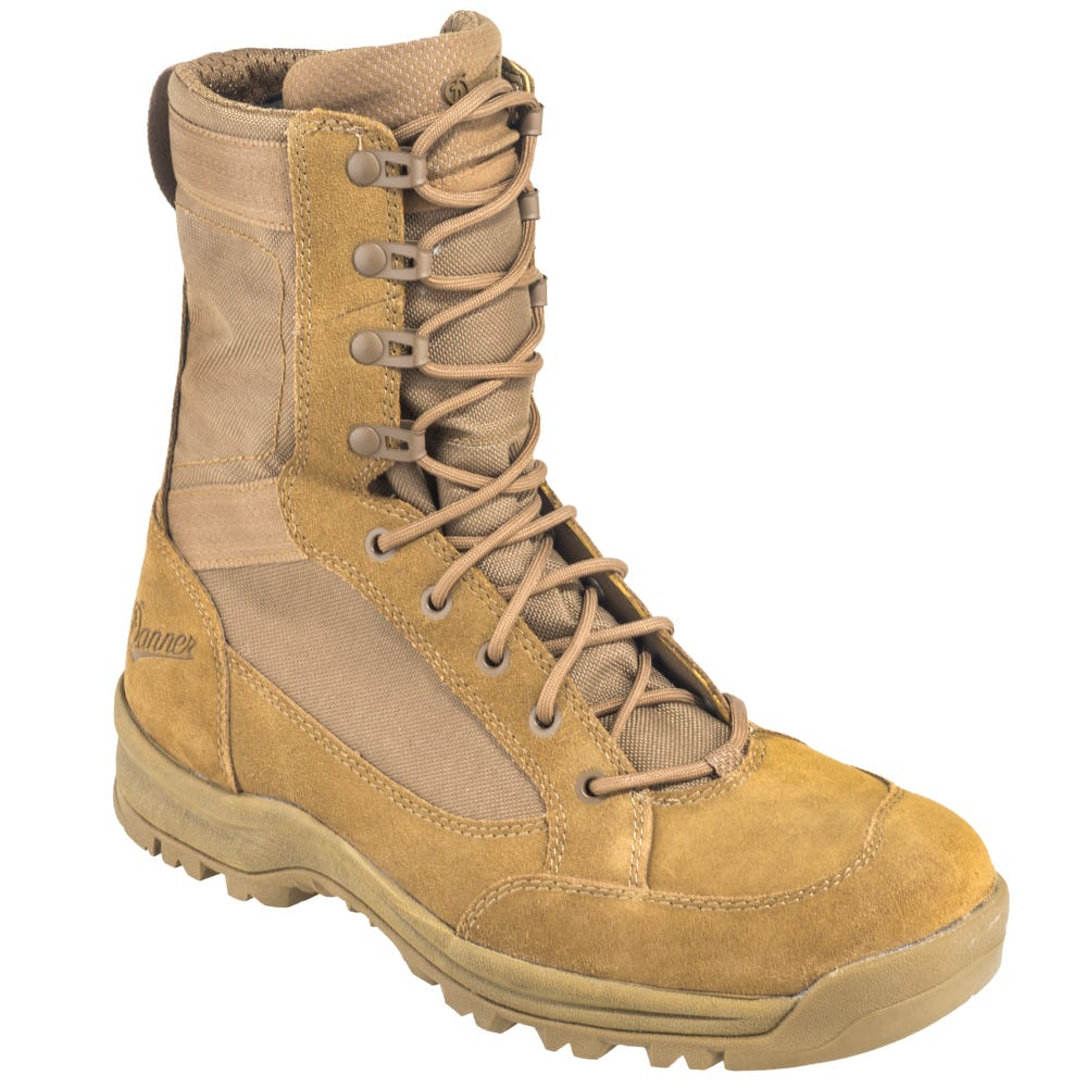 Danner 55316 Tan 8-Inch Leather/Nylon Military Style Coyote Work Boots