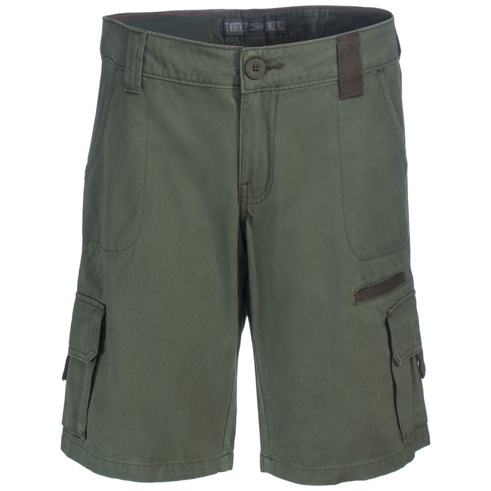 Dickies Women's FR327 RGE Green 10-Inch Relaxed Fit Cargo Shorts