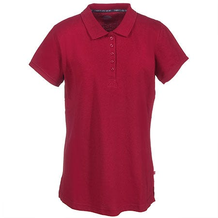 Dickies Women's FS023 HD Red Performance Polo Work Shirt