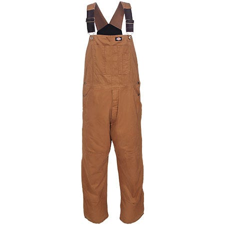 Dickies TB244 RBD Brown Sanded Duck Insulated Bib Overalls