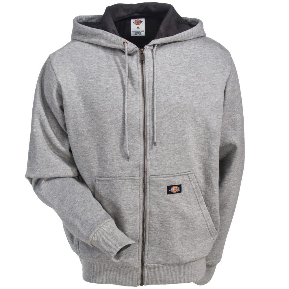 7d0f02d4127a Dickies Men s TW382 AG Thermal-Lined Ash Grey Fleece Hoodie