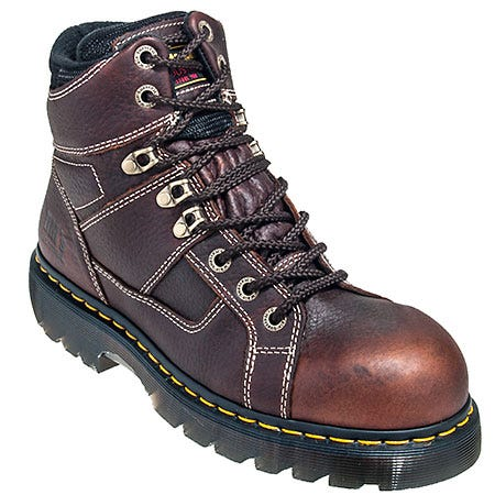 Dr. Martens Brown R13400200 Ironbridge Steel Toe Slip-Resistant EH Boots