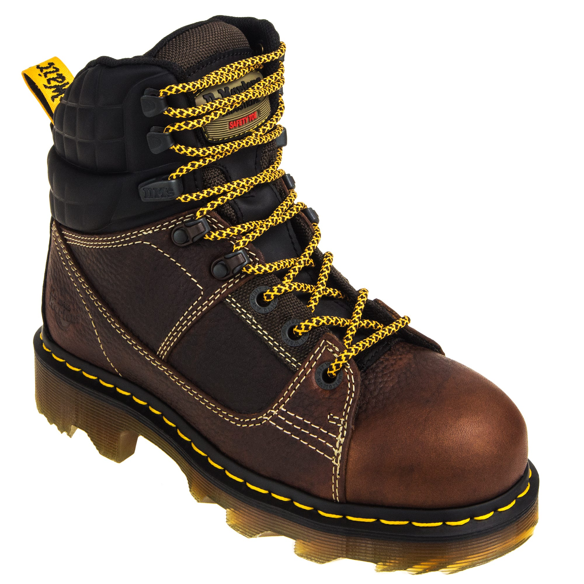 Dr. Martens WIDE R22656214 Brown Camber Alloy Toe Work Boots