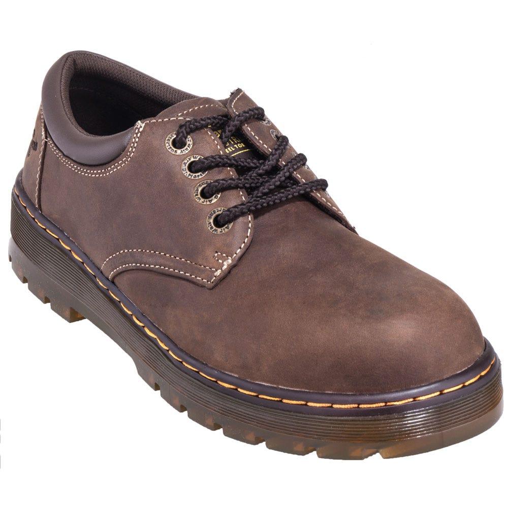 Dr. Martens R16800201 Brown Steel Toe Slip-Resistant Oxford Shoes