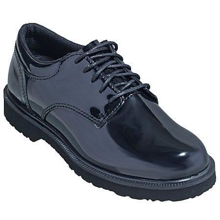 Bates Women's Black High Gloss Oxford Uniform Shoes 22741