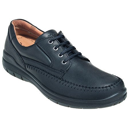 Ecco Shoes: Men's Black Seawalker 10394 101 Moisture Wicking Oxford Work Shoes Sale $150.00 Item#10394-101 :