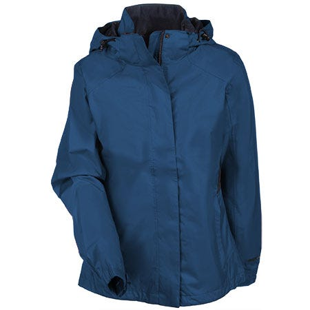 Eddie Bauer Women's EB551 DPS Blue Waterproof Breathable Rain Jacket