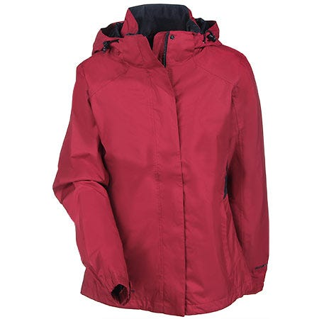 Eddie Bauer Women's EB551 RAD Lightweight Red Rain Jacket