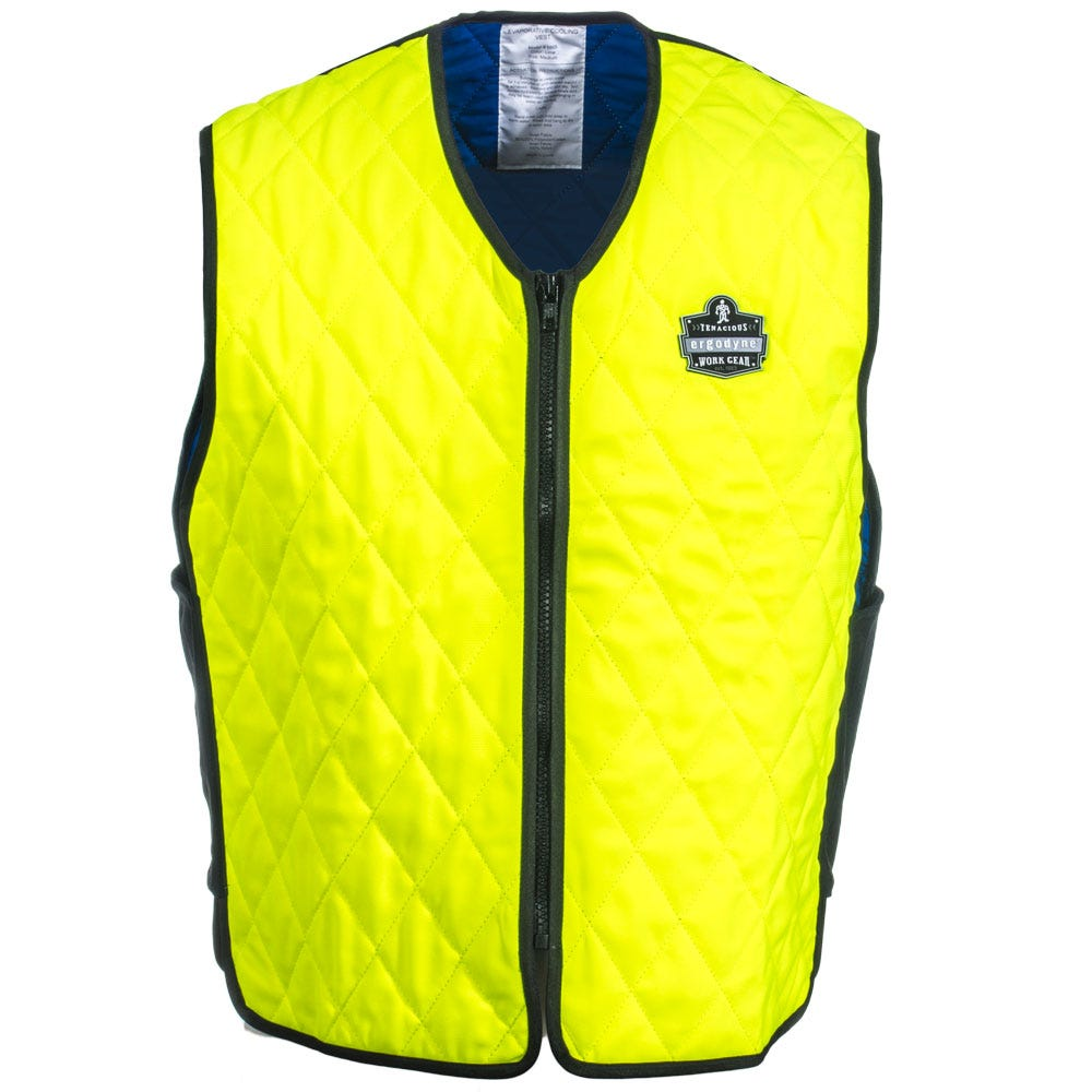Evaporative Cooling Clothing : Ergodyne vests unisex lm lime chill its evaporative