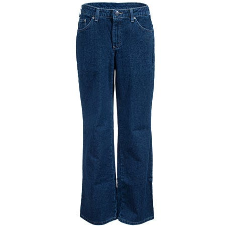 Dickies Work Clothes: Womens Flannel-Lined Blue Jeans FD117 SVB Sale $34.00 Item#FD117SVB :