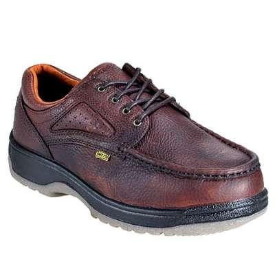 Florsheim Women's Dark Brown Steel Toe Internal Met Guard Work Shoes FE244