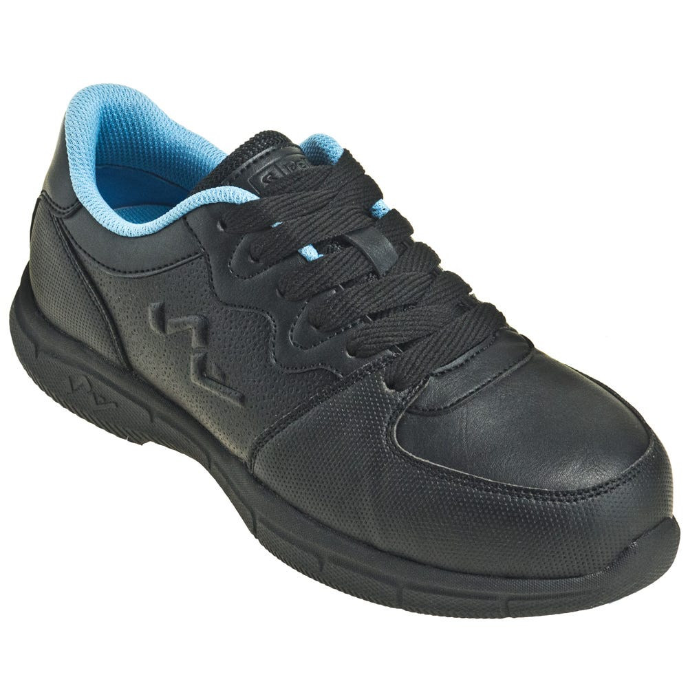 Genuine Grip Women's 520 Black Ultra Light Composite Toe EH Athletic Shoes