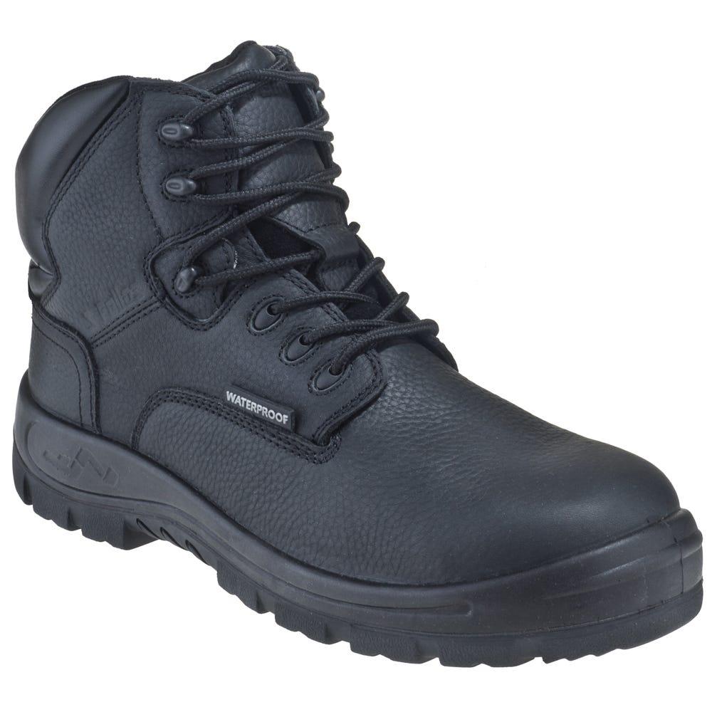Genuine Grip Women's 650 Waterproof Composite Toe EH Poseidon Black Work Boots
