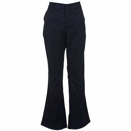 Dickies Women's FP121 BK Black Flat Front Stretch Twill Pants
