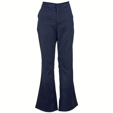 Dickies Women's Dark Navy FP121 DN Flat Front Stretch Twill Pants
